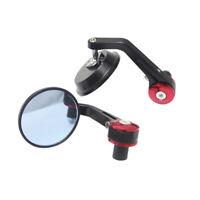 2PCS Tonda Manubrio Terminale Specchietto Retrovisore 22mm 7/8'' Per Moto