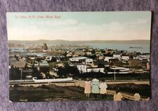 ST JOHN N.B. FROM THE WEST END CANADA POSTCARD 1900s #L636