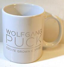 Wolfgang Puck Estate Grown Coffee White Mug Silver Logo