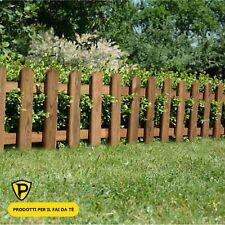 Steccato in Legno di Pino L180 x H100 cm Staccionata Doghe Recinzione Giardino