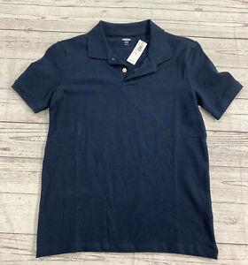 Old Navy Short Sleeve Polo Stretch School Uniform Shirt Size L(10-12) Navy Blue