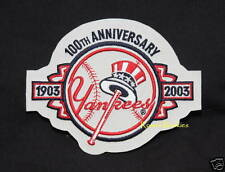 NEW YORK YANKEES 100TH ANNIV. MLB PATCH 2003