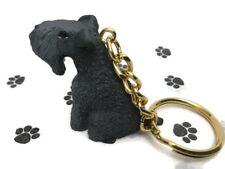 Kerry Blue Terrier Dog Tiny One Resin Keychain Key Chain Ring