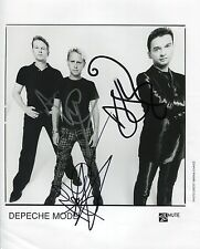 Depeche Mode SIGNED Photo 1st Generation PRINT Ltd 150 + Certificate (1)
