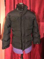 Diesel  Black Down Jacket Tie Back Fitted Juniors 8
