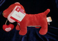 ANIMAL ADVENTURE RIB RIBBED CORD CORDUROY PINK RED VALENTINES DAY HEART DOG NWT