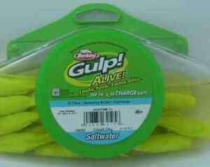 "Berkley GASHPSM4-CH 4"" Gulp Alive 8 Oz 1/2 Pint Size Chartreuse 15845"