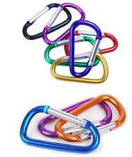 10x 6.8cm Carabiner Clip Key Ring Holder Chain Cable Hook Lock Camping D Shape
