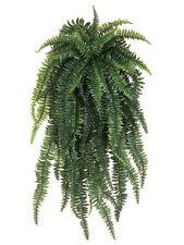"TWO 52"" Weeping Boston Fern Hanging Bush Artificial Silk Plants Fake Decor 480"