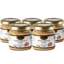 White Truffle Gourmet Sauce Pasta Tuber borchii Garlic High in Protein 5 x 80 g