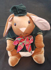 Velveteen Bunny Rabbit Margery Williams Green Jacket Hat Plaid Bow Plush 12""