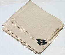 12' x 12' TAN / BEIGE HEAVY DUTY POLY TARP w/UV BLOCKER
