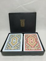 Kem Paisley Plastic Playing Cards w/ Plastic Case Made in USA EUC. Fast 🚢.
