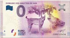 Billet Touristique 0 Euro --- Domaine des grottes de Han (revers Belem) - 2017-1