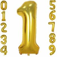 40 Inch Gold Foil Balloons Number 0-9, for Birthday Anniversary Party. Glowyms