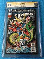 Superman #83 - DC - CGC SS 9.4 NM - Signed by Dan Jurgens, Joe Rubinstein