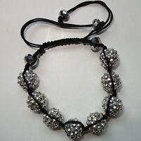 Shamballa Crystal Disco Ball Charm Bracelet Wristband Bangle Womens Ladies Girls