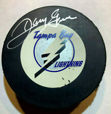 Danny Gare Autographed Signed Official Nhl Hockey Tampa Lightning Puck wCoa