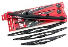 Trupart Front & Rear Windscreen Wiper Blades with D/S Spoiler (TV50/43/35+TVSP)