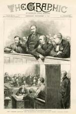 1877 Antique Print - LONDON Bow Street Police Court Detective Poland Benson(034)