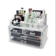Beauty Cosmetic Acrylic Makeup Drawer Desk Storage Box Display Organiser Holder