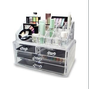 Beauté Cosmétique Acrylique Maquillage Tiroir Bureau Rangement Boîte Affichage