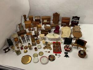 Vintage Strombecker Salesman Sample Shackman Wood Dollhouse Furniture 117 Pieces