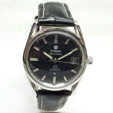 VINTAGE MEN'S TITONI AIRMASTER 25 JEWELS ROTOMATIC WITH DATE WRIST WATCH