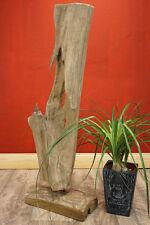 Teak Wurzelholz Skulptur 70-80cm Schwemmholz Treibholz Driftwood massiv Deko NEU