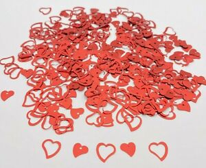 Red Heart confetti wedding table decoration sprinkles sparkle scatter party (G)
