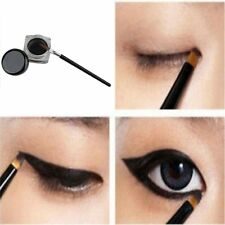 Black Waterproof  Eyeliner Shadow Eye Liner Gel Makeup Cosmetic With Brush