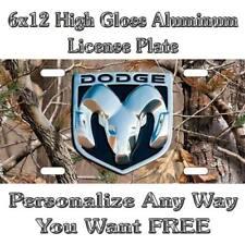 Camo Camouflage Dodge Ram Sign Custom Monogram License Plate Auto Car Tag Person