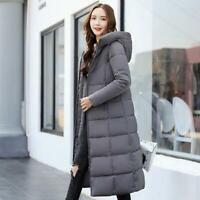 Women's Hooded Long Coat Down Cotton Overcoat Winter Warm Parka Jacket Outwear