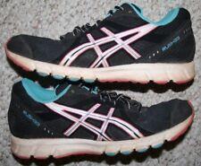 Asics Running Shoes 7 Black White Pink Blue Women's Rush 33 Seven Cross Training