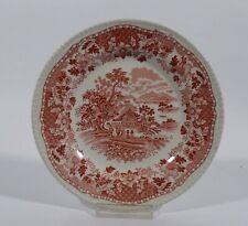 Woods Burslem Seaforth Rot Kuchenteller Plate Dm 20 cm Keramik England