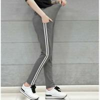 Fashion Stripe Adjustable Maternity Leggings Maternity Pants Pregnant Trousers