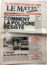 LE MATIN de Paris 1982: POLOGNE_ RENAUD_LES BRIGADES ROUGES