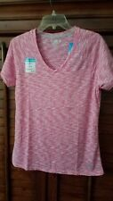 NWT Reel Legends Reel Fresh Womens Performance Pink Glo Athletic Workout Top