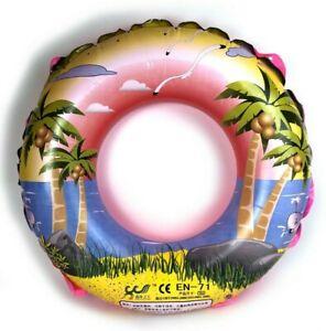 Schwimmring Ø 70cm Kinder Erwachsene Schwimm Hilfe Reifen Pink Urlaub Beach