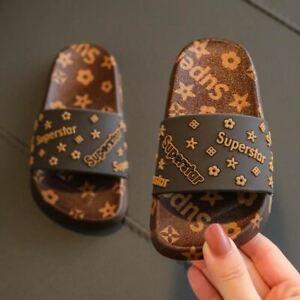 Pair Women Summer Children's Slippers PVC Soft Non-slip Home Bathroom Flip Flops