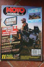 MOTO JOURNAL 876 MORINI 501 YAMAHA DTR 200 KAWASAKI KMX FANTIC PARIS DAKAR 1989