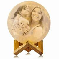 Personalized Moon Lamp Custom Photo &Text Moon Light for Kids Gift Touch Control