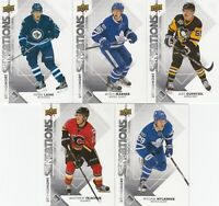 2017-18 UPPER DECK SOPHOMORE SENSATIONS  lot of 5 DIFFERENTS CARDS  LOT 40  a