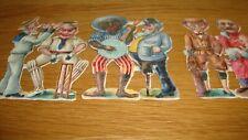 3 x Pairs  Vintage Scraps   Figures - Comical Style