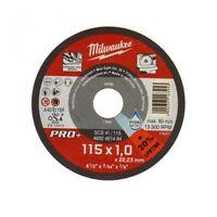 MILWAUKEE 1 Disco da Taglio Sottile PRO+ Metallo Ø115mm x1mm per Smerigliatrice