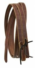"Showman 8' X 1"" Western Leather Reins With Water Loop Ends Horse Tack"