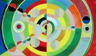 """Robert Delaunay Vintage French Abstract Art CANVAS PRINT Relief disque 24""""X16"""""""