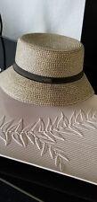 Nine West Womens One Size Hat Straw Bucket Sun Hat Packable