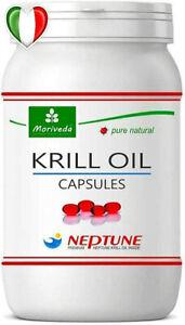 Olio di Krill 90 Capsule Omega 3,6,9 Astaxantina, Fosfolipidi, Colina Vitamina E