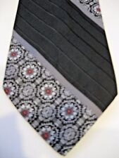 Wembley Men's Neckties Tie Black Striped Floral Gray Red White Polyester